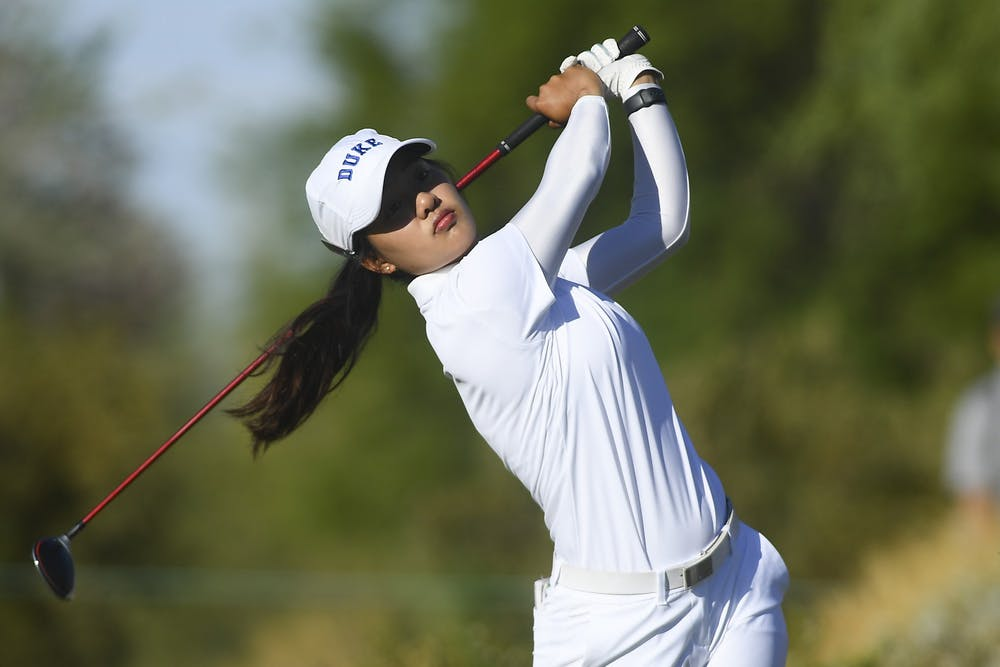 <p>In her final collegiate event, Jaravee Boonchant helped the Blue Devils reach the Final Four.&nbsp;</p>