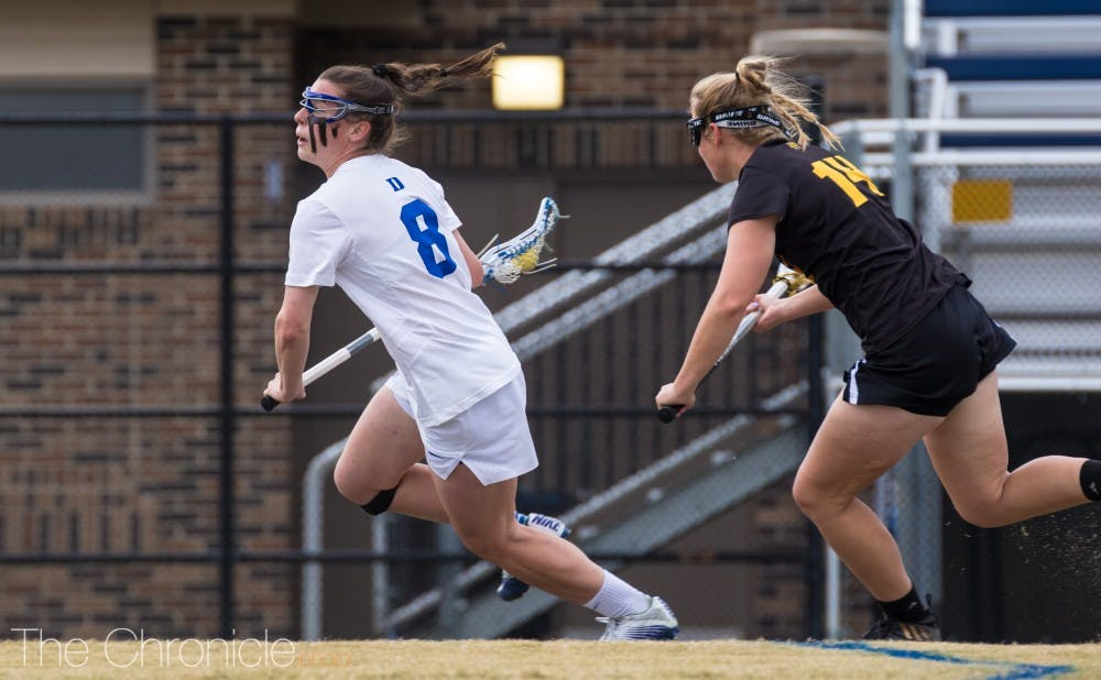 <p>Charlotte North tallied her 100th career goal Monday.</p>