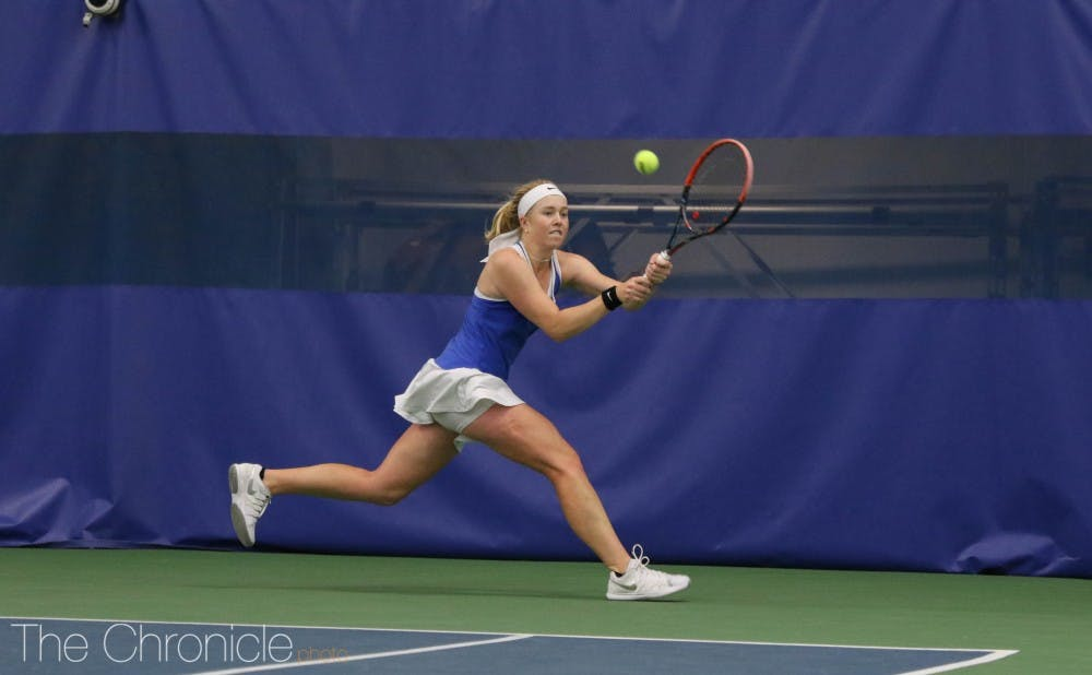 <p>Junior Kaitlyn McCarthy will team up with classmate Ellyse Hamlin as the top seed at this week's ITA Fall Championships.</p>