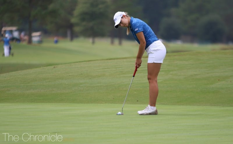Ana Belac carded a No. 3 finish at the ACC Championship