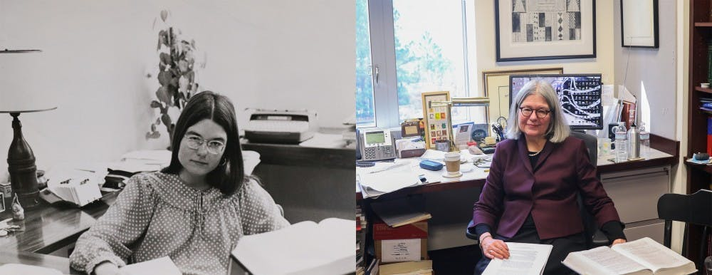 Left: April 11, 1977, by Peggy Gulley | Right: Feb. 14, 2018, by Bre Bradham