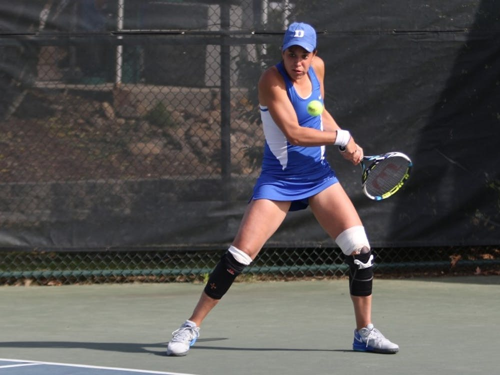 Senior Beatrice Capra has captured nine doubles wins this fall, and will look to add to that ledger as Duke completes its fall season this weekend at the Kitty Harrison Invitational.