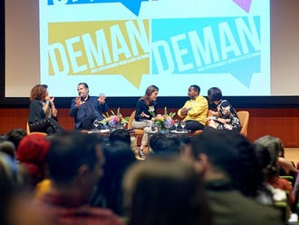 """Last year's keynote conversation at DEMAN Weekend. This year's conversation features alumni working in creative fields from ABC's """"black-ish,"""" CNN, Entertainment Weekly and more."""