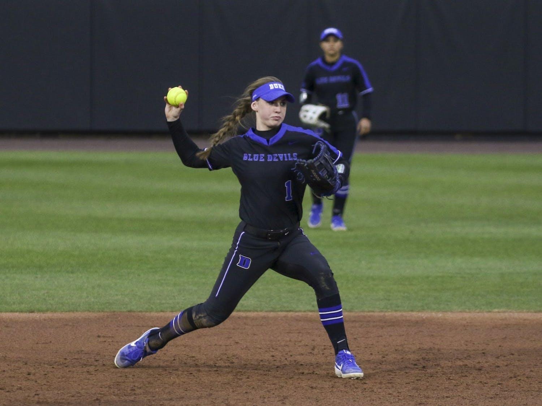 Sophomore Caroline Jacobsen led the Blue Devils this past weekend in Florida.