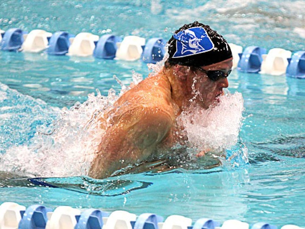 Junior Hunter Knight is the No. 4 in the ACC for the 100-yard breaststroke.