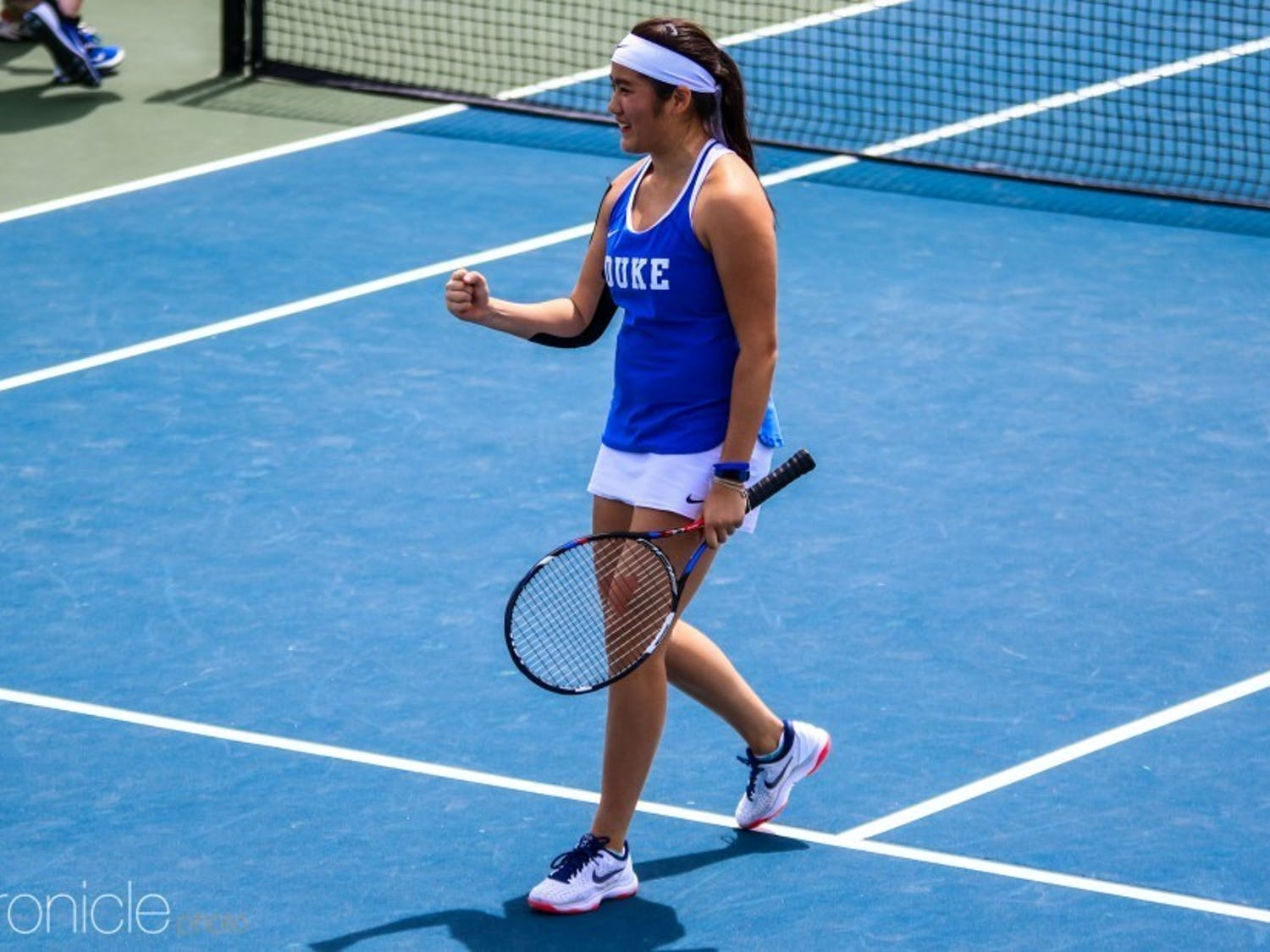 Senior Kelly Chen leads the Blue Devils as the eighth-ranked singles player in the country.