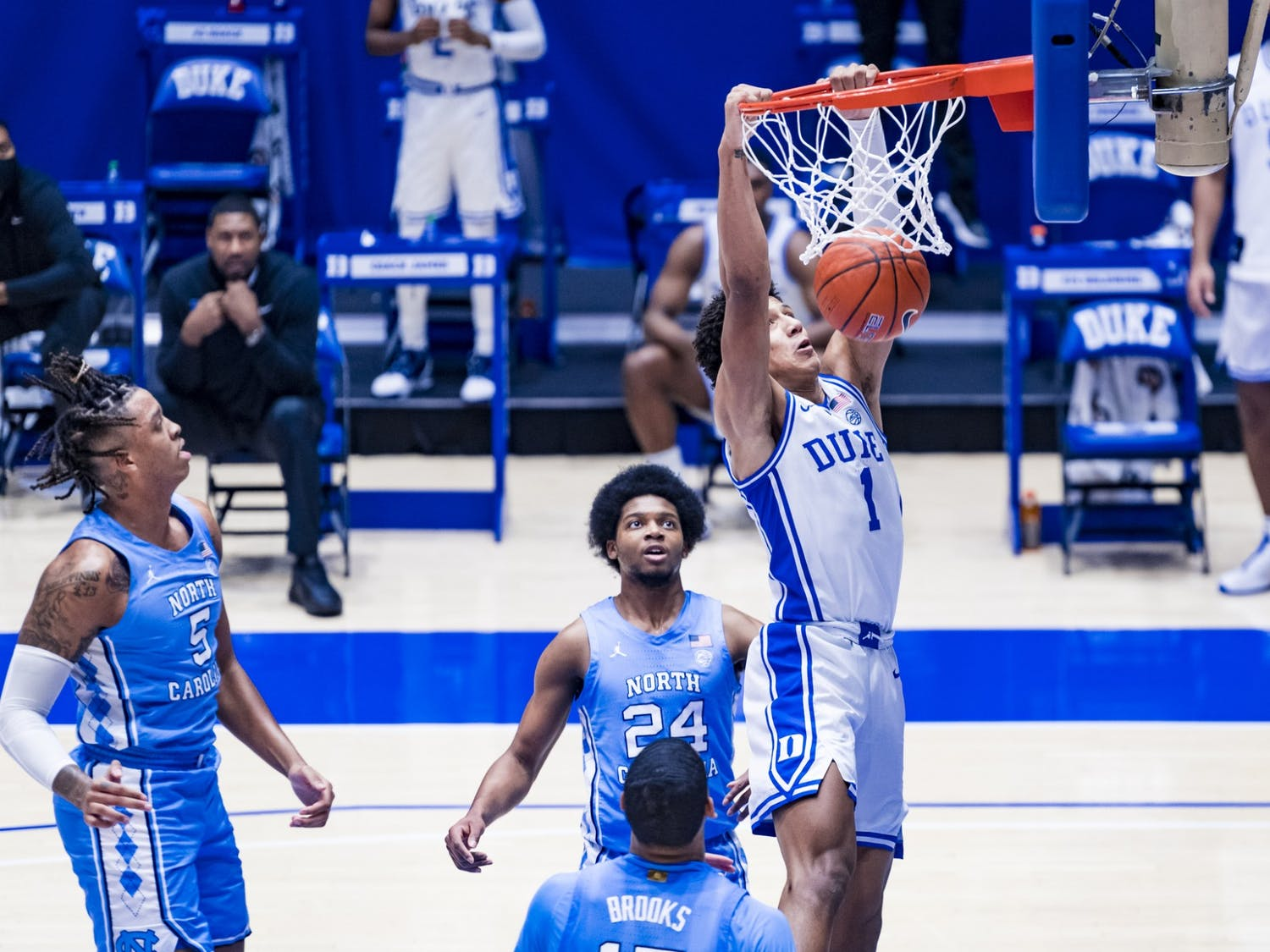 Freshman Jalen Johnson has been one of Duke's most exciting players all year, but he's also had his fair share of subpar performances.
