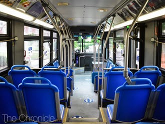 Duke has implemented distancing and cleaning precautions to keep buses safe during the coronavirus pandemic.