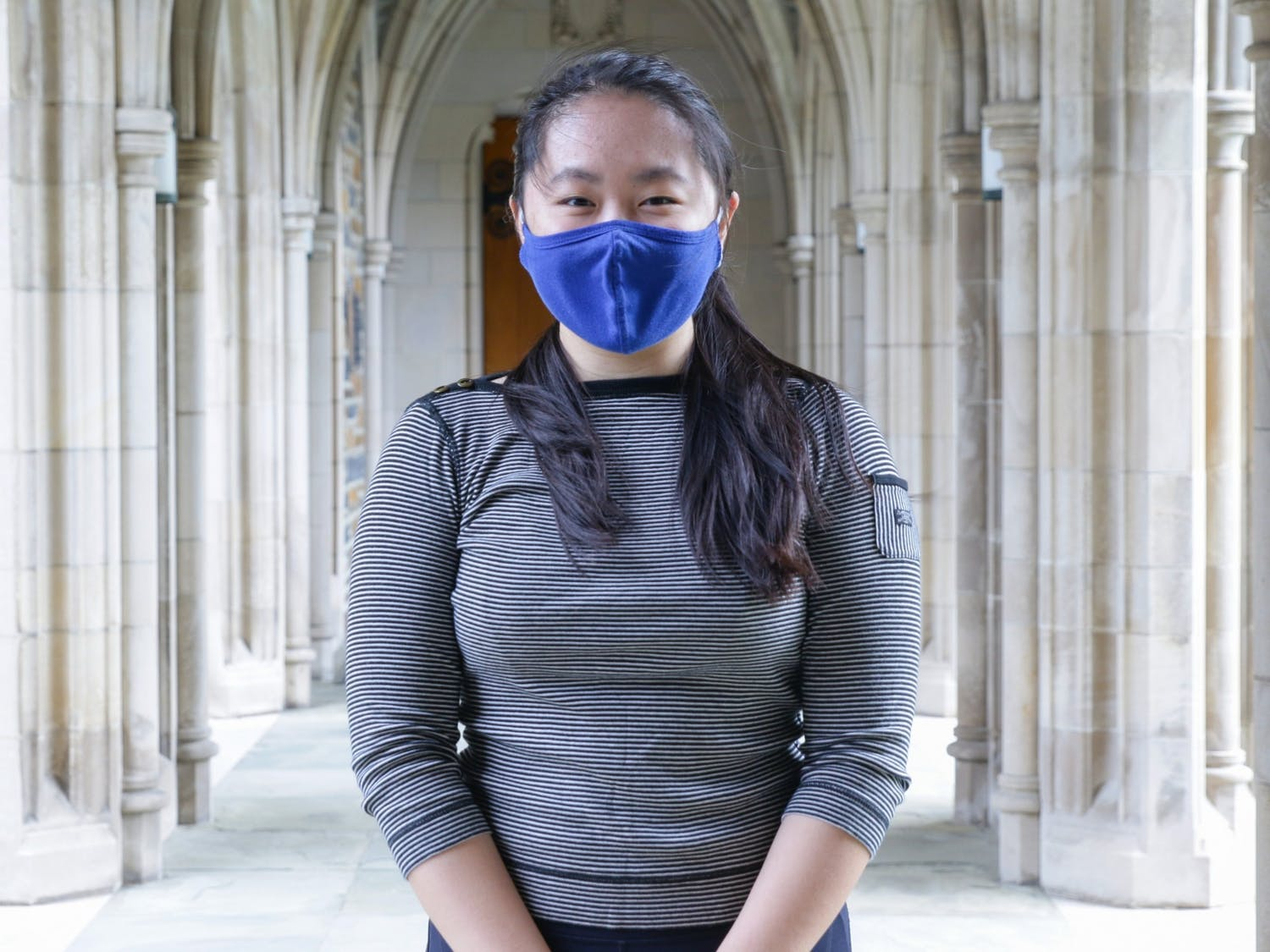 Sophomore Shari Tian is an RA in Brown dorm. She's found that in-person events have a better turnout than virtual ones.