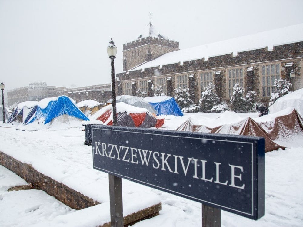Tenters in K-Ville brave cold conditions for weeks every winter waiting for the Duke-North Carolina men's basketball game.