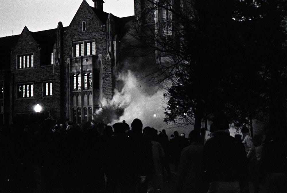 Allen Building Takeover | Courtesy of Duke University Archives