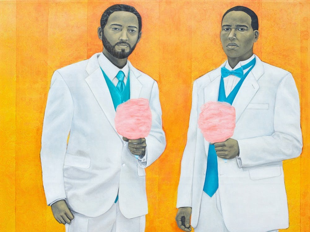 """The piece""""High Yella Masterpiece: We Ain't No Cotton Pickin' Negroes"""" by Amy Sherald isfeatured in the""""Southern Accent"""" exhibition,one of the largest exhibits the Nasher has ever created."""