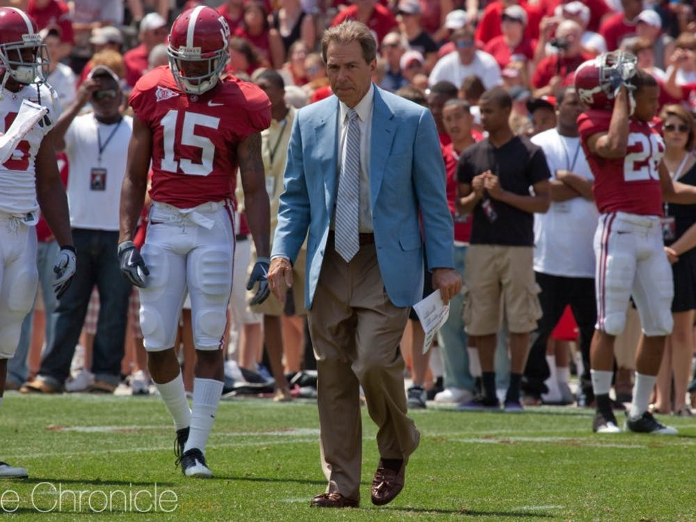 Nick Saban's Alabama squad snuck into this year's College Football Playoff as the No. 4 seed despite not playing in its conference championship game.
