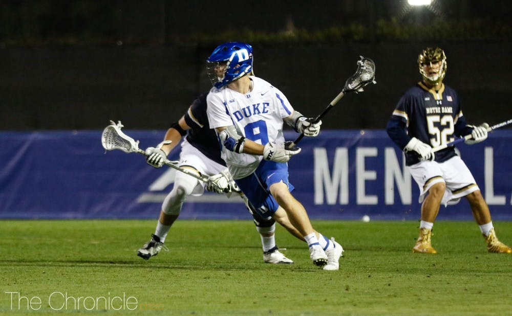 <p>Sean Lowrie added a hat trick for Duke Saturday.</p>