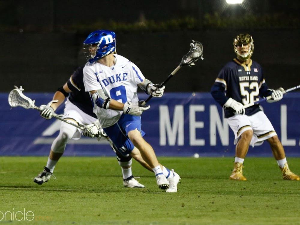 Sean Lowrie added a hat trick for Duke Saturday.