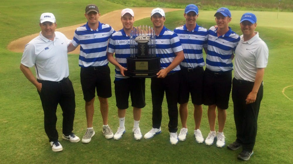 <p>The Blue Devils led from start to finish Friday and Saturday, winning their first ACC title since 2013.&nbsp;</p>
