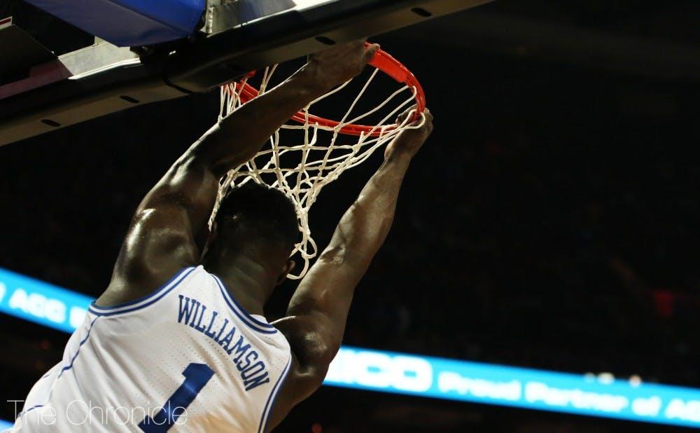 <p>Williamson dominated against Syracuse in the ACC quarterfinals.</p>