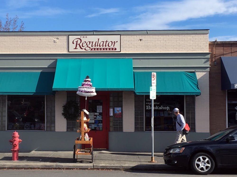 Independent Bookstore The Regulator, run by Duke alums Tom Campbell and John Valentine, celebrated its 40th anniversary Saturday.
