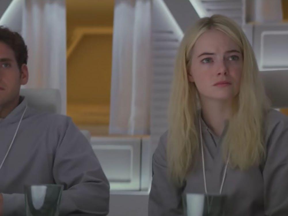 "Netflix series ""Maniac"" stars Jonah Hill and Emma Stone."