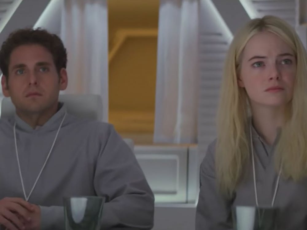 "Netflix series ""Maniac"" stars Jonah Hill and Emma Stone."