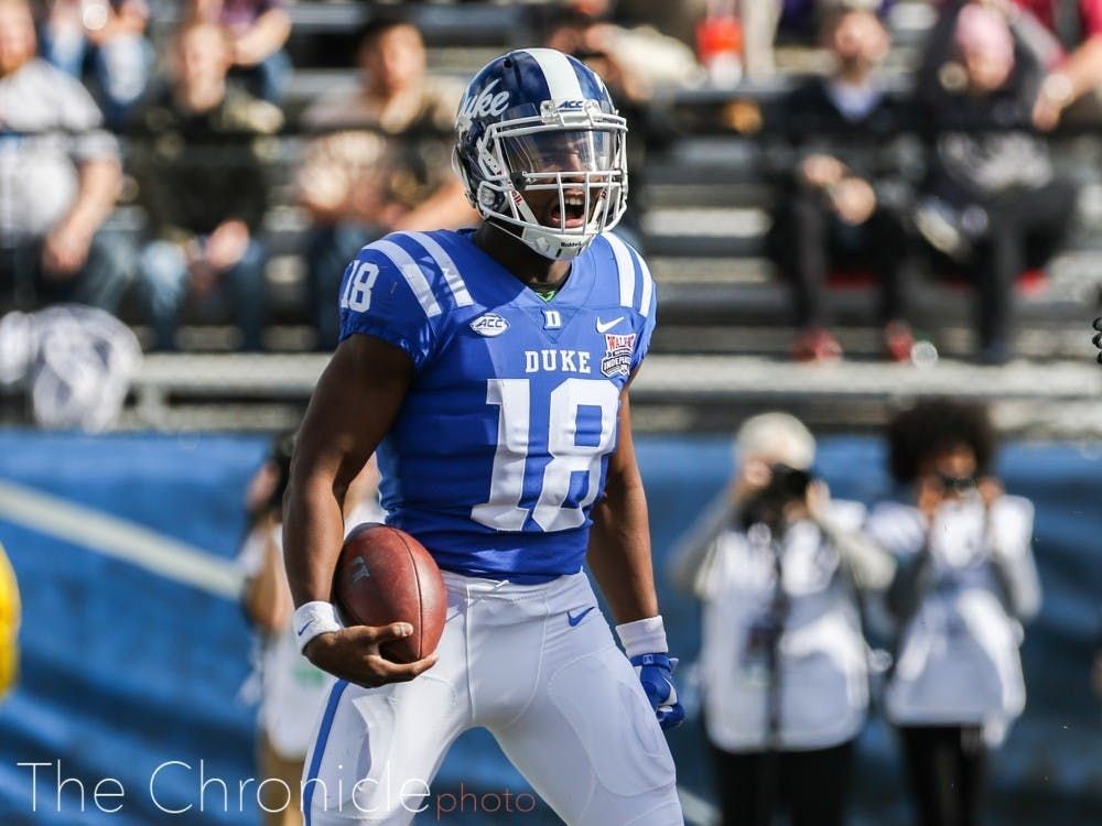 <p>Quentin Harris threw for two touchdowns in the first half against Virginia Tech.</p>