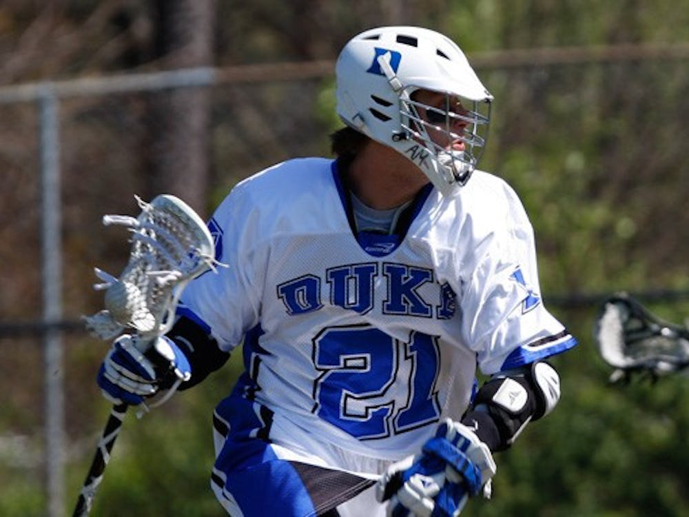 Senior Zach Howell scored a career-high nine points, including seven goals, against Siena Saturday.