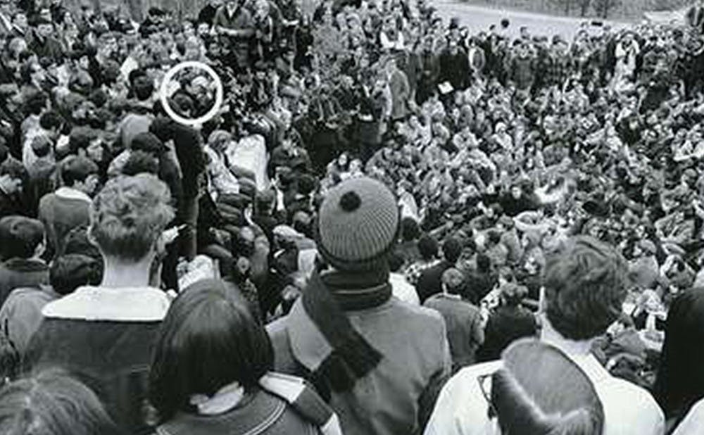 <p>Students took over the Allen Building in 1969 to demand racial equality on campus, one of many organized student efforts to influence administrators.</p>