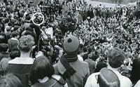 Students took over the Allen Building in 1969 to demand racial equality on campus, one of many organized student efforts to influence administrators.