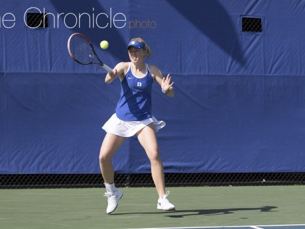 Sophomore Kaitlyn McCarthy has not lost a match in singles in league action and will look to keep rolling this weekend.