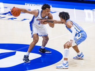 Wendell Moore Jr. scored 15 points Saturday night, but a late travel virtually sealed the Blue Devils' fate.