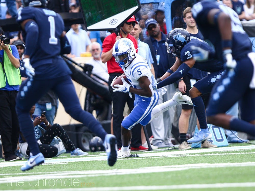 <p>The Blue Devils struggled to get much going offensively in the opening half.</p>