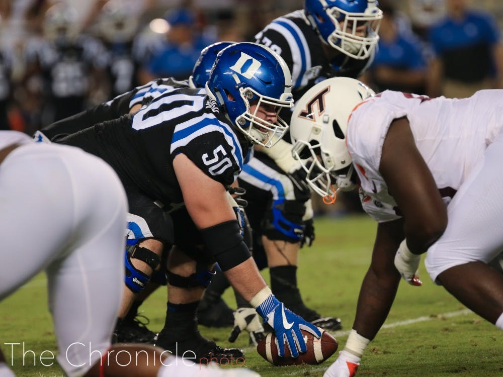 Jack Wohlabaugh—the reigning ACC Offensive Lineman of the Week—will try to defend his line's nation-best sacks allowed mark.