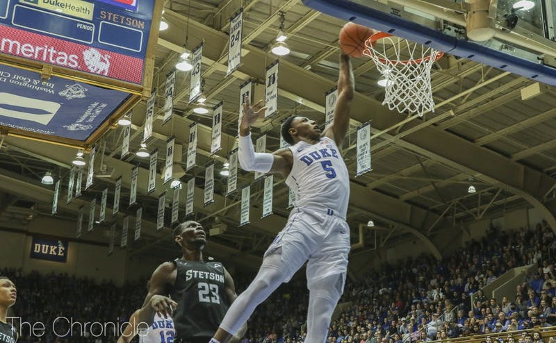 Freshman R.J. Barrett had arguably his most efficient and best all-around performance of the season Saturday.