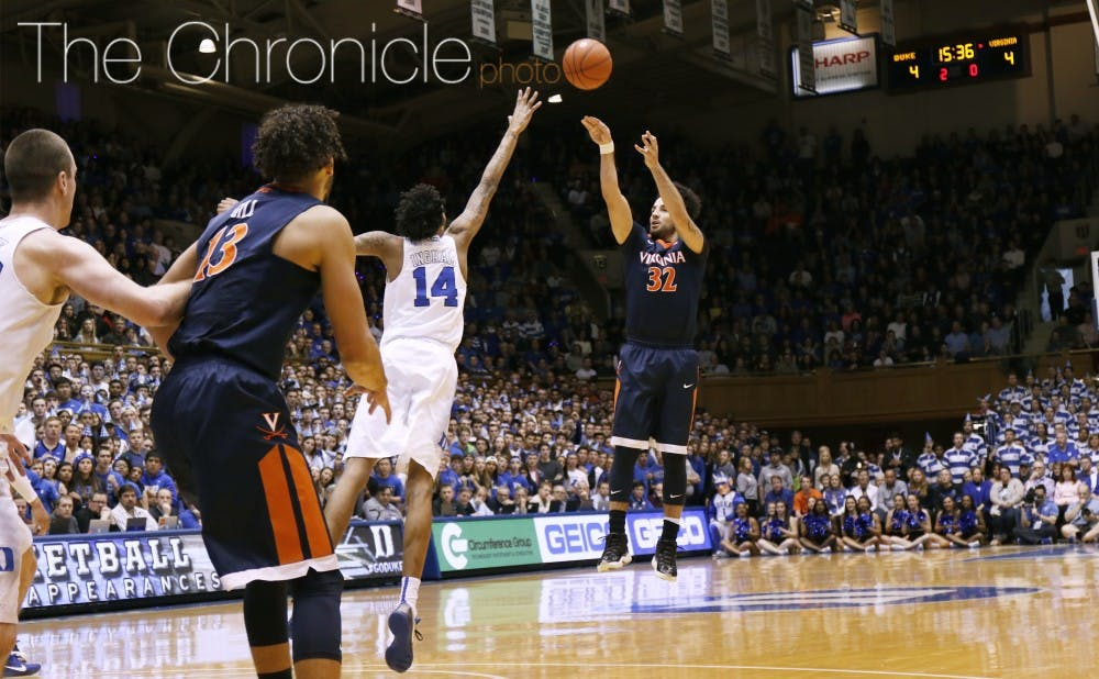 <p>Point guard London Perrantes is the Cavaliers' most consistent offensive threat and will likely&nbsp;need to have a big night for Virginia to end Duke's five-game winning streak.&nbsp;</p>