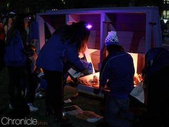 A-Team stokes a bench bonfire after a Duke basketball win.