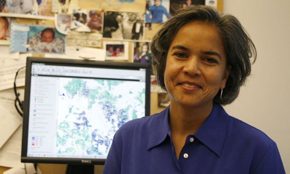 Marie Miranda, director of the Children's Environmental Health Initiatve, found that lead negatively impacted test scores of children in poor neighborhoods because of their living conditions.
