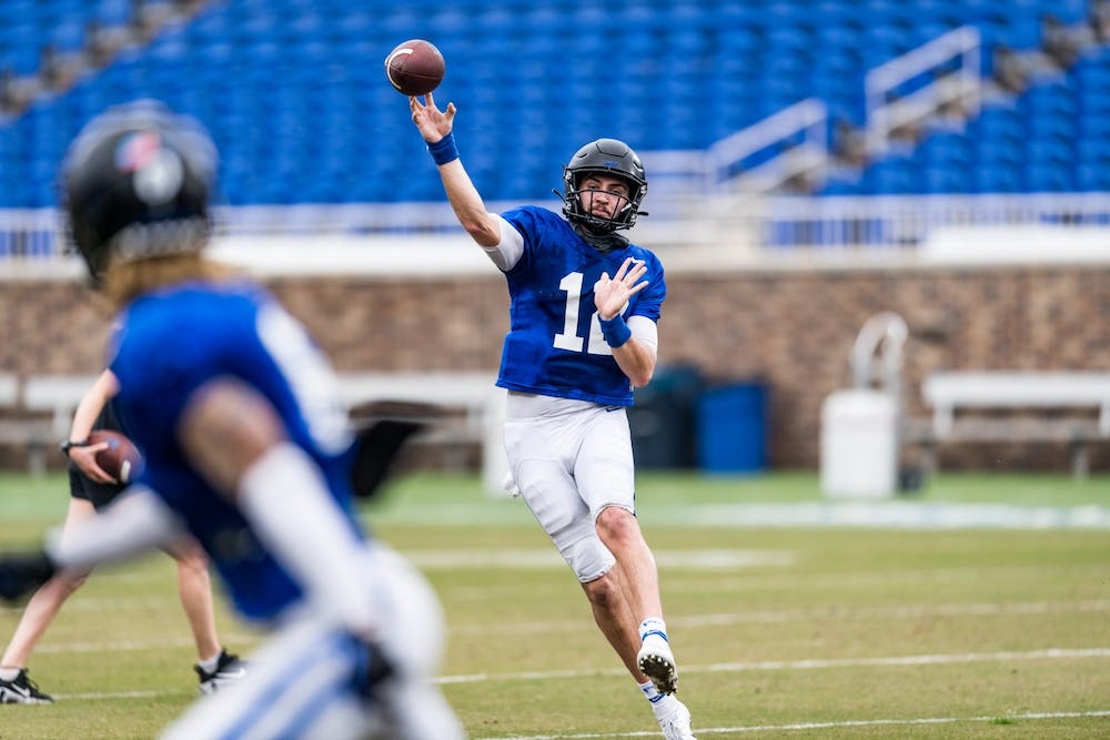 Gunnar Holmberg is set to take over duties under center for the Blue Devils.