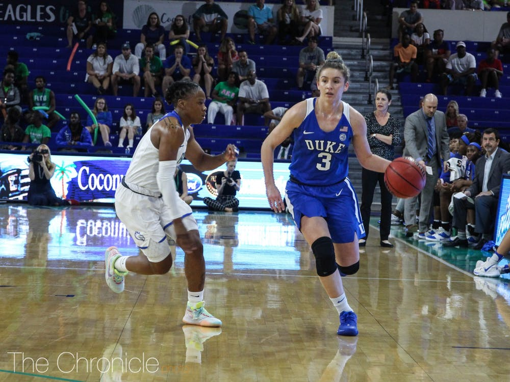 <p>Miela Goodchild and the Blue Devil guards struggled mightily Sunday afternoon.</p>