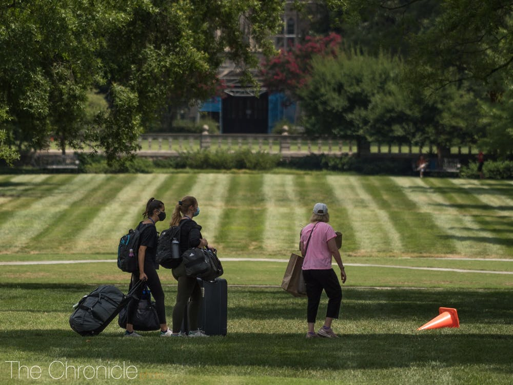 Undergraduate move-in is taking place over more than a week this year to allow for pandemic safety measures. Students will be subject to a wide range of safety restrictions once they are on campus.