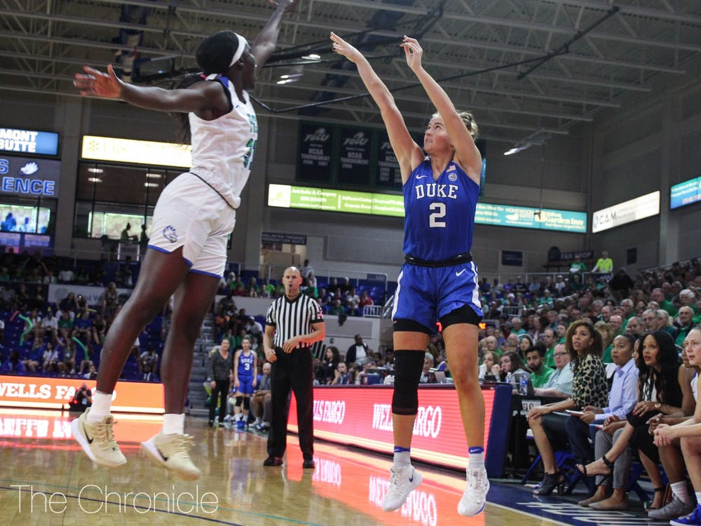 Haley Gorecki had 10 first-quarter points against the Cardinals.