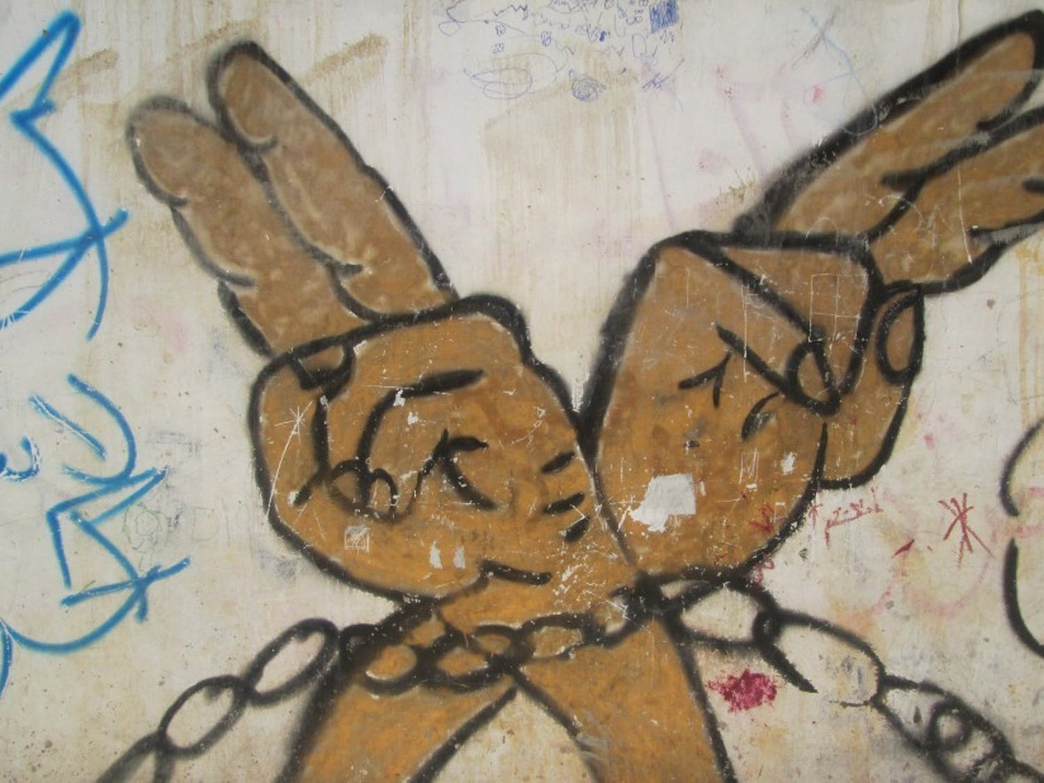 Chronicle File Photo  A mural in Palestine, 2014