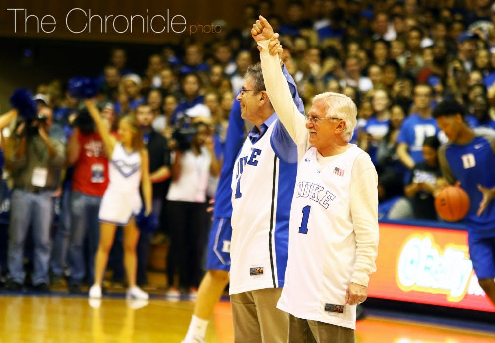 <p>Nobel laureates Paul Modrich and Dr. Robert Lefkowitz were honored at Countdown to Craziness Saturday. The Chronicle recently spoke with Modrich about his recent award.</p>
