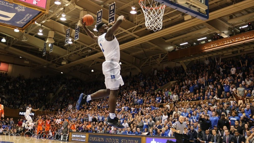 The rims at the Brodie Recreation Center simply could not handle Williamson's ferocious dunks like the ones in Cameron Indoor Stadium.