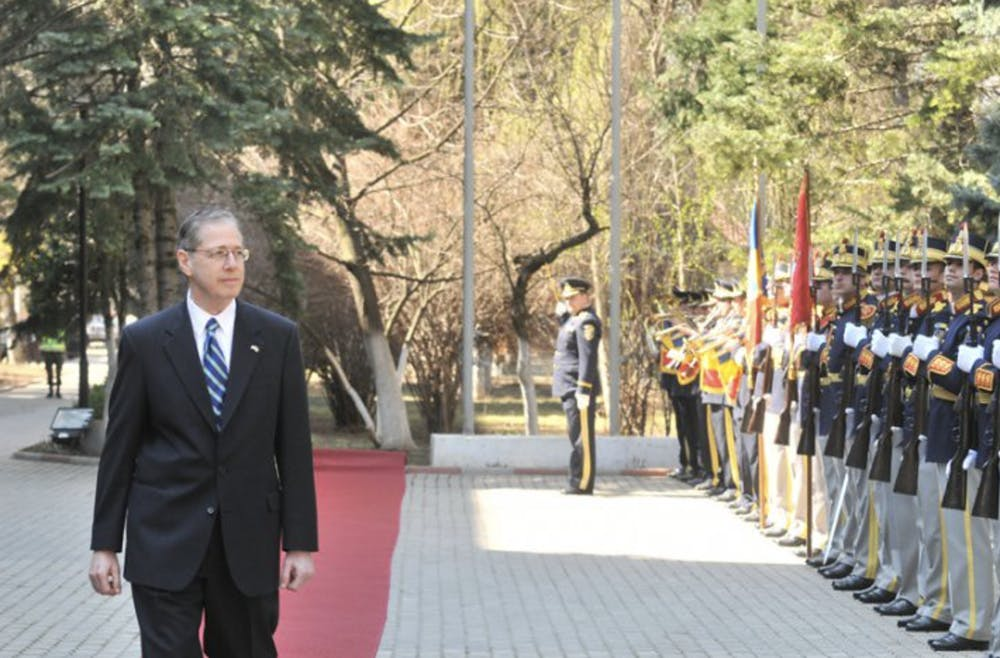 <p>Mark Gitenstein, Trinity '68, was the former ambassador to Romania.</p>