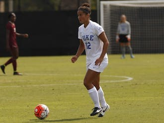 Senior Kayla McCoy is one of the Blue Devils leaders on offense this season.