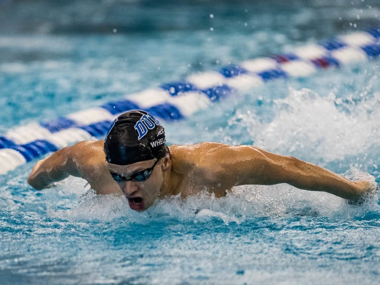 Junior Matthew Whelan posted a career-best 46.91-second time in the 100-yard butterfly Friday.