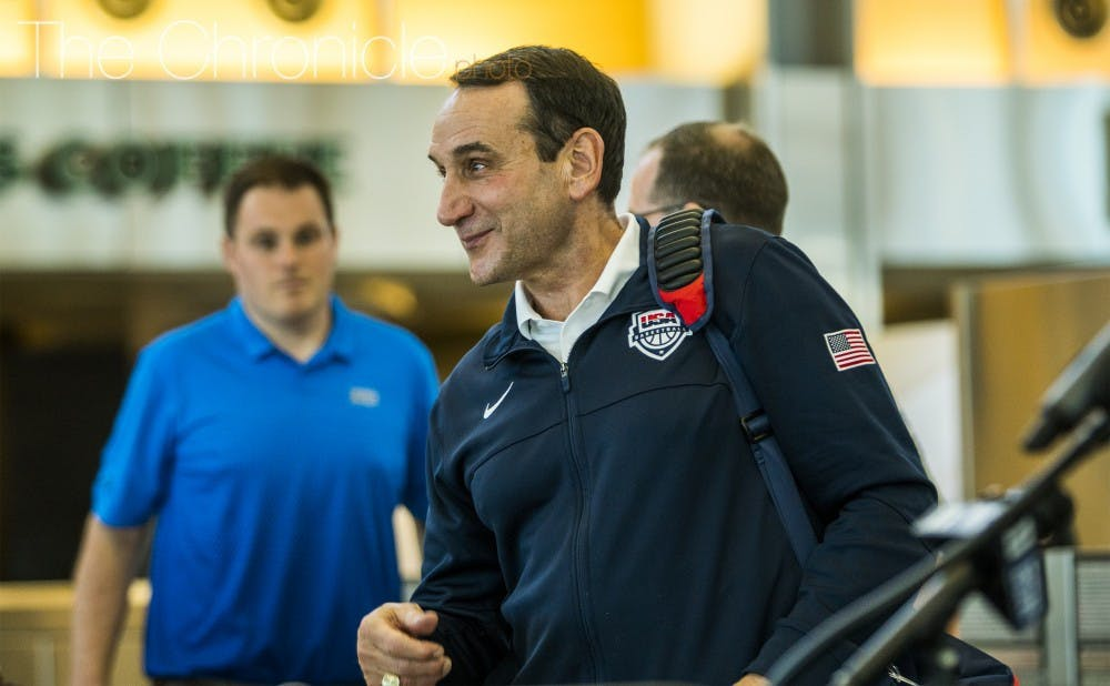 Coach K's squad is in the thick of summer workouts currently.