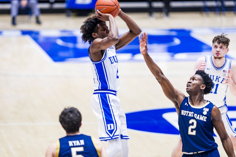 <p>Steward was an excellent shot creator for the Blue Devils.</p>
