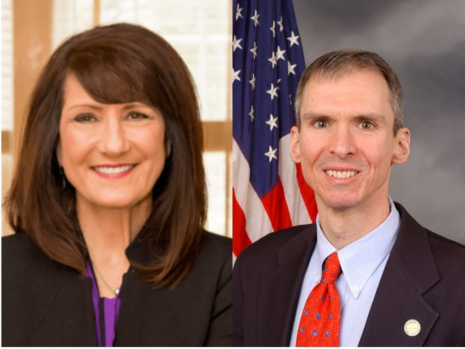 Marie Newman, left, defeated Dan Lipinski, right.