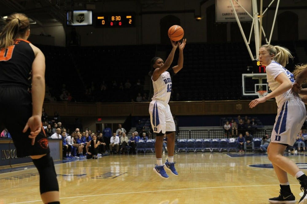 <p>Mikayla Boykin played just eight games last season due to an injury.</p>